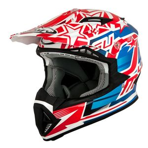 Casque cross RUMBLE - FREEDOM - RED BLUE 2019 Red Blue
