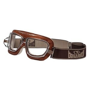 Lunettes moto SUPERCOMPETITION CROCO CAMEL  Marron