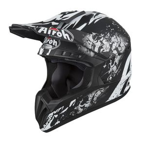 Casque cross SWITCH - BACKBONE - MATT 2019 Noir/Blanc