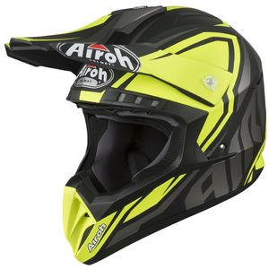 Casque cross SWITCH - IMPACT - YELLOW MATT 2019 Gris/Jaune