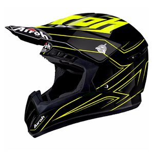 Casque cross SWITCH - SPACER  - YELLOW 2018 Noir/Jaune