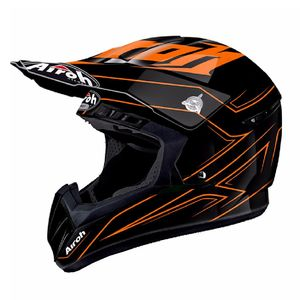 Casque cross SWITCH - SPACER  - ORANGE 2018 Noir/Orange