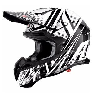 Casque cross TERMINATOR 2.1 S - CLEFT  - BLACK 2017 Noir/Blanc