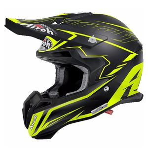 Casque cross TERMINATOR 2.1 S - SLIM  -  YELLOW MATT 2017 Noir/Jaune