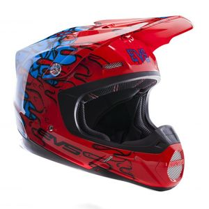 Casque cross T5 ECTO RED BLUE  2017 Rouge/Bleu