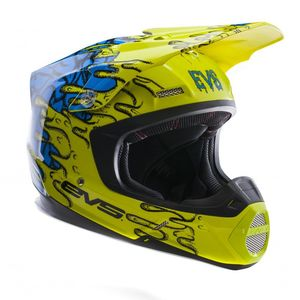 Casque cross T5 ECTO YELLOW BLUE  2017 Jaune Fluo/Bleu