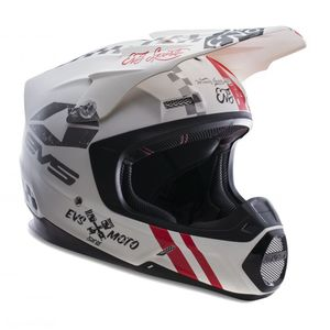 Casque cross T5 FURY MATTE WHITE  2017 Blanc mat
