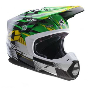 Casque cross T5 SPEEDWAY GREEN YELLOW  2017 Vert/Jaune