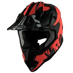 Casque cross Taku invasion 2017 Black/Orange fluo