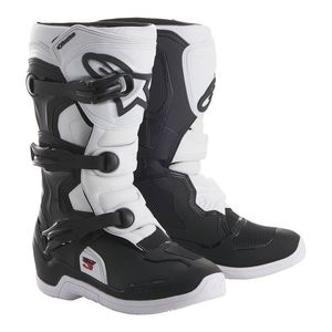 Bottes Cross Alpinestars Tech 3s Black White Enfant 2018