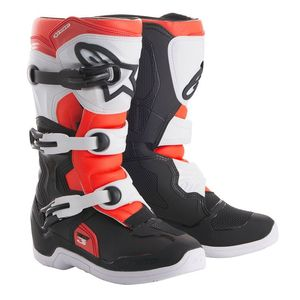 Bottes Cross Alpinestars Tech 3s Black White Red Fluo Enfant 2018