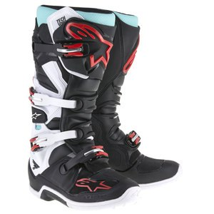 Bottes Cross Alpinestars Tech 7 Black Turquoise White Red 2018