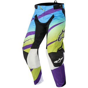Pantalon Cross Alpinestars Techstar Venom Pants Lime Green Cyan Purple 2016