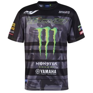T-Shirt manches courtes ALL OVER - TECH3 MONSTER ENERGY - BLACK GREEN  Black Green