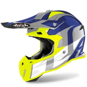 Casque cross TERMINATOR OPEN VISION - SHOT -BLUE GLOSS 2020 Blue