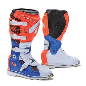 Bottes cross TERRAIN TX ORANGE/BLANC/BLEU 2019 Orange/Blanc/Bleu