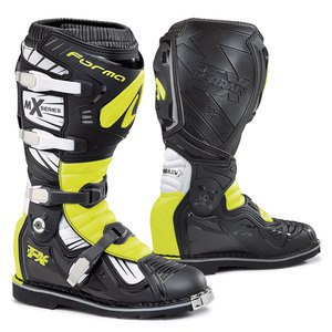 Bottes cross TERRAIN TX  BLACK WHITE YELLOW FLUO 2019 Noir/Blanc/Jaune