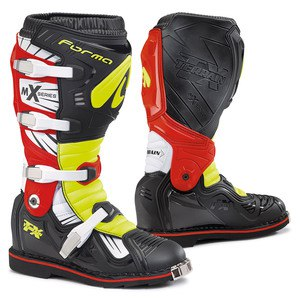 Bottes cross TERRAIN TX BLACK YELLOW FLUO RED 2019 Noir/Jaune/Rouge