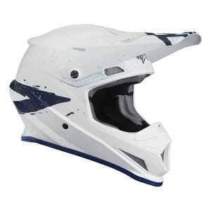 Casque cross SECTOR HYPE WHITE BLUE 2019 Blanc/Bleu