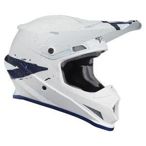 Casque cross SECTOR HYPE WHITE BLUE ENFANT  Blanc/Bleu