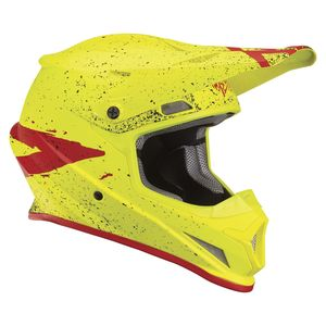 Casque cross SECTOR HYPE ACID RED ENFANT  Jaune/Rouge