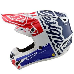 Casque cross SE4 POLYACRYLITE - FACTORY - WHITE BLUE 2020 White Blue