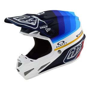 Casque cross SE4 CARBON - MIRAGE - NAVY WHITE 2019 Blue / White