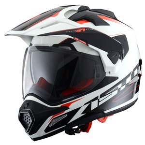 Casque CROSS TOURER GRAPHIC EXCLUSIVE ADVENTURE  Blanc/Noir