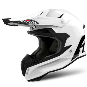 Casque cross TERMINATOR OPEN VISION COLOR WHITE GLOSS 2019 Blanc