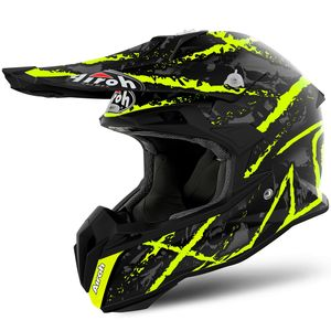 Casque cross TERMINATOR OPEN VISION CARNAGE YELLOW MATT 2019 Jaune