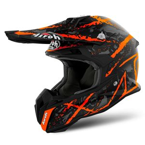 Casque Cross Airoh Terminator Open Vision Carnage Orange Matt 2019