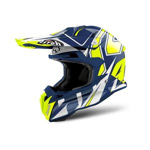 Casque cross TERMINATOR OPEN VISION SHOCK BLUE GLOSS 2019 Bleu