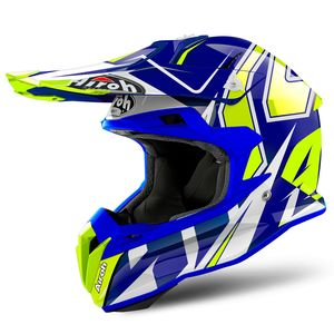 Casque Cross Airoh Terminator Open Vision Shock Blue Gloss 2019