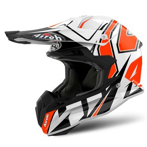 Casque cross TERMINATOR OPEN VISION SHOCK ORANGE GLOSS 2019 Orange