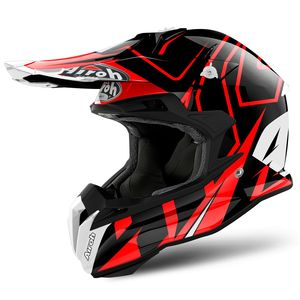 Casque cross TERMINATOR OPEN VISION SHOCK RED GLOSS 2019 Rouge