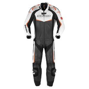 Combinaison TRACK TOURING 2 PIECES  Blanc/Noir/Orange