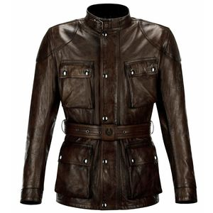 Veste TRIALMASTER PRO LEATHER  Black/Brown