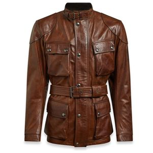 Veste TRIALMASTER PRO LEATHER  Burnt