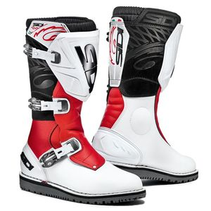 Bottes Cross Sidi Trial Zero 1 - Blanc/rouge - 2019