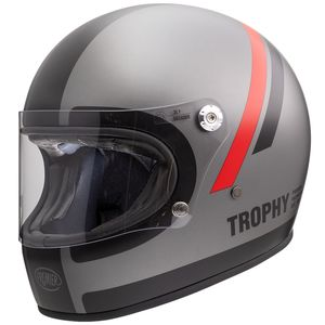 Casque TROPHY - DO - MATT  Black Matt/Grey
