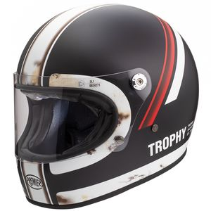 Casque TROPHY - DO92  Black Matt/Red/White