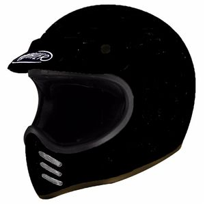 Casque TROPHY - MX - BLACK MAT  Noir mat