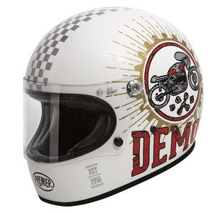 Casque TROPHY - SPEED DEMON  Blanc/Noir