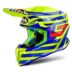 Casque cross TWIST CAIROLI QATAR YELLOW GLOSS 2018 Jaune