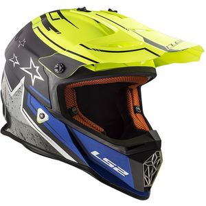 Casque cross MX437 - FAST  - CORE MATT BLACK H-V YELLOW 2019 Matt Black H-V Yellow