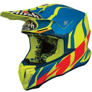 Casque cross TWIST - GREAT - AZURE MATT 2019 Bleu/Jaune