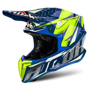 Casque cross TWIST IRON BLUE GLOSS 2018 Bleu
