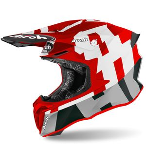 Casque cross TWIST 2.0 - FRAME - RED MATT 2021 Red
