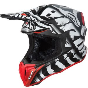 Casque cross TWIST -  LEGEND -BLACK MATT 2019 Noir/Rouge