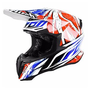 Casque cross TWIST - LEADER 2018 Bleu/Rouge